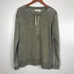 Ocean Drive NWT Heather Green Soft Sweatshirt. SZM